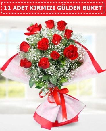 11 Adet Kırmızı Gül Buketi  Mersin çiçek gönderme sitemiz güvenlidir