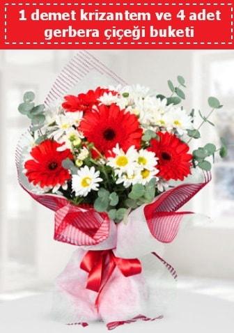 Krizantem ve Gerbera Buketi  Mersin online çiçekçi , çiçek siparişi