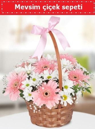 Mevsim kır çiçek sepeti  Mersin çiçek mağazası , çiçekçi adresleri